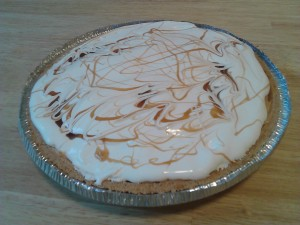 No-Bake Peanut Butter Caramel Cheesecake from The Jewish Lady