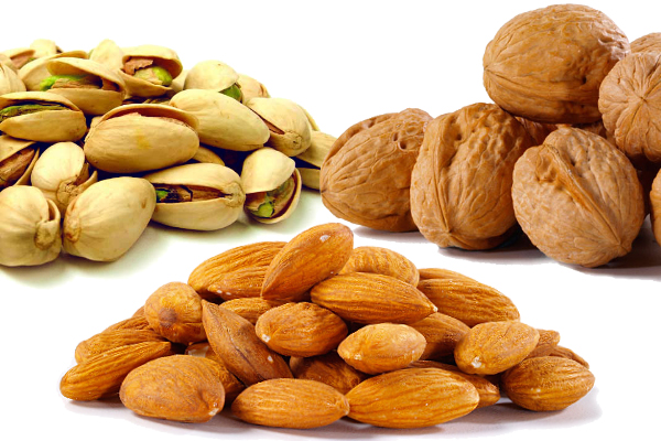 Image result for Almonds and walnuts