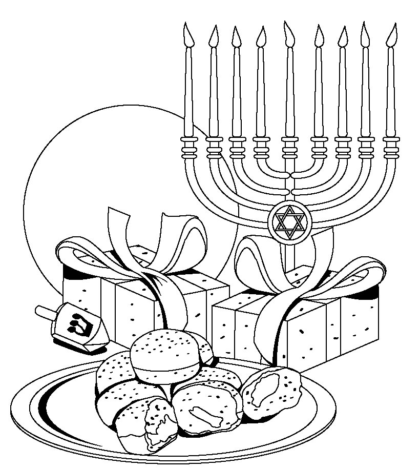 Comprehensive image for hanukkah coloring pages printable