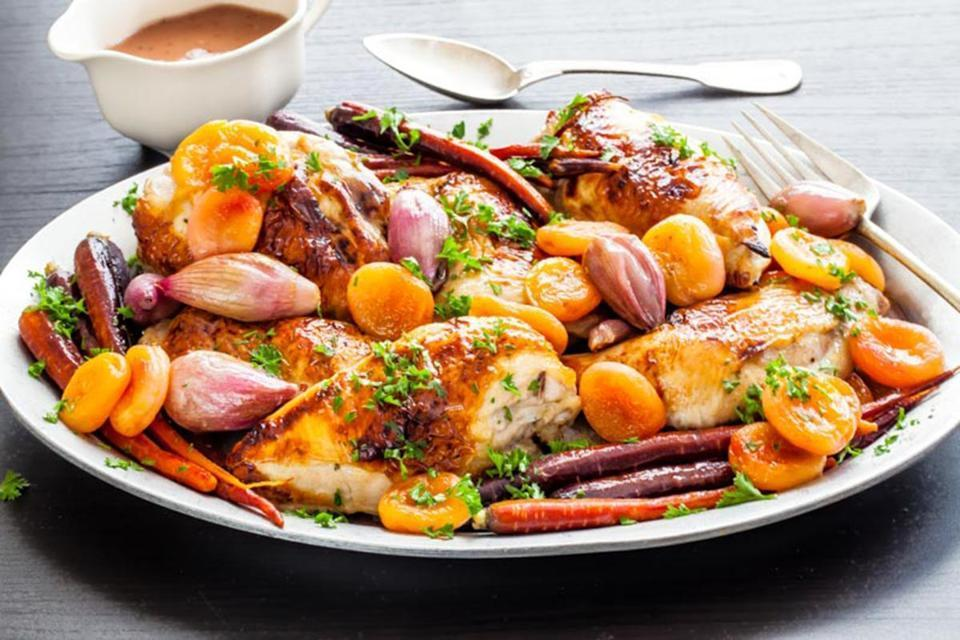 One-Pan Rosh Hashanah Chicken Dinner - The Jewish Lady